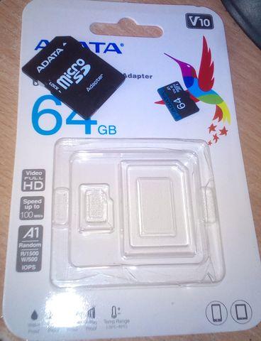 karta SD micro z adapterem 64GB nowa